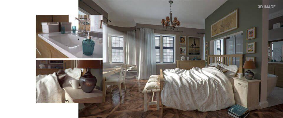 3D intérieur chambre - CAD