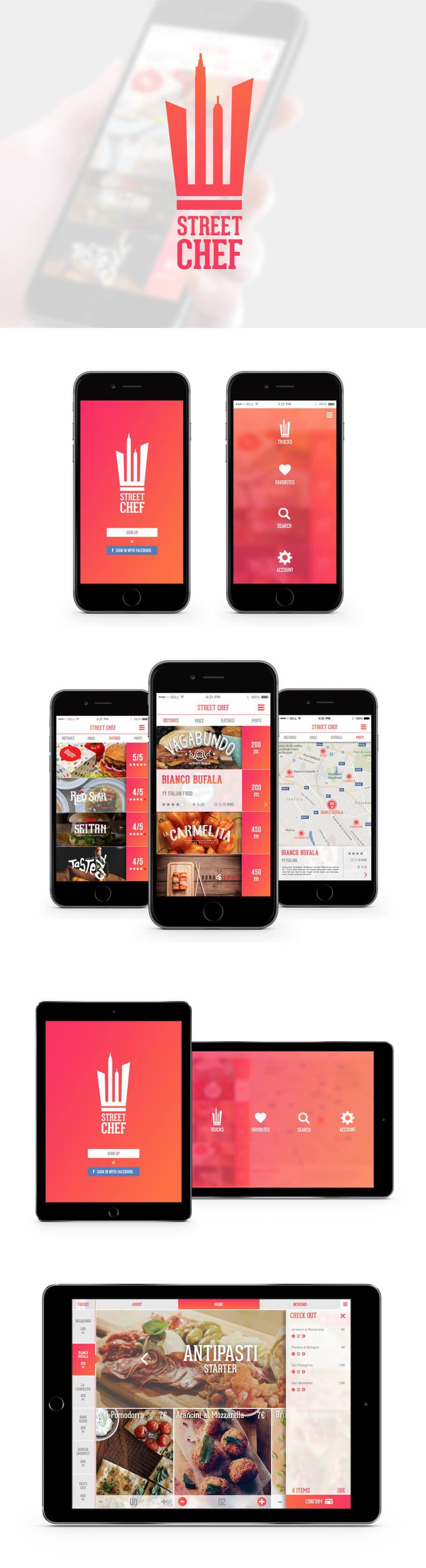 App design cad for Food truck design app
